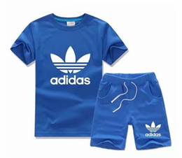 Wholesale infant clothes for winter - HOT SELL 2017 New Style Children's Clothing For Boys And Girls Sports Suit Baby Infant Short Sleeve Clothes Kids Set 2-13 Age