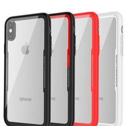 Argentina 2018 moda ultrafino caja transparente del teléfono celular de cristal de imitación para iphone x 8 7 6 6 s plus botón acrílico 2in1 cubierta protectora de la PC de TPU Suministro