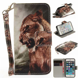 iphone transparenter flip cover fall Rabatt Flip Wallet Case für iPhone 5S SE Fälle Coque Tier Wolf Owl Tiger Lion Painted PU Leder Handytaschen Zubehör Cover