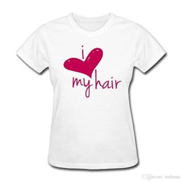 check hair Promo Codes - Summer 2018 New Love My Hair Length Check Women's T-Shirt Short Sleeve Crew Neck Fashion