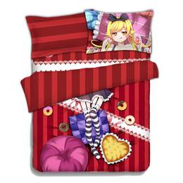Wholesale japanese anime pillow cases - Hobby Express Oshino Shinobu - Bakemonogatari Japanese Anime Bed Blanket or Duvet Cover with Two Pillow Cases ADP-CP151205