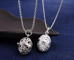 Wholesale Russian Eggs - Russian hot sell 100%S925 silver can open an egg pendant necklace,Chain random delivery