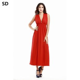 Discount viscose ladies casual summer dresses - SD female maxi dress 2018  High Quality plus size 209128699333
