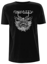 Футболки бренды фарфор онлайн-Тонкая Лиззи 'china town' футболка - Nuevo y официальный хип-хоп новинка футболки мужской бренд Clothing top tee