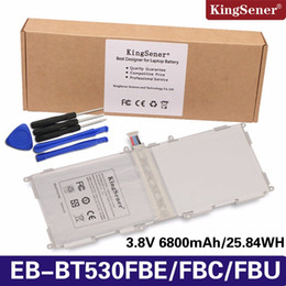 Wholesale tab batteries - KingSener EB-BT530FBE EB-BT530FBC Battery For SAMSUNG Galaxy Tab 4 10.1 T530 T531 T535 SM-T535 T533 SM-T537 T530NU EB-BT530FBU