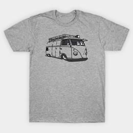 Панельный фургон онлайн-Захлопнул VW панель Van футболка