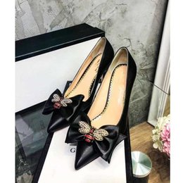 Wholesale Model Bees - Customer settings GC Luxury Brand Original leather bee Love Woman Business Dress Shoes & High Heels shoes 2018 Fashion Show models shoes