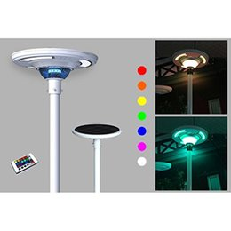 Wholesale Controlled Power Ups - Solar Powered Colorful UFO Round Post RGB LED Light, up to 1800 LM built SMART profile w  Remote Control for Outdoor Illuminations to Commer