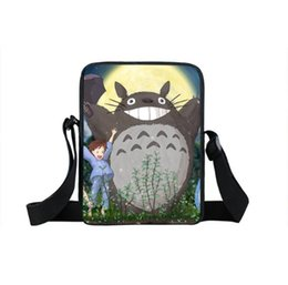 Bambino messenger borse scuola online-Anime Totoro Mini Messenger Borse Boy Girl Kids School Bags Borsa Daily Bao Bao Toddlers Snack Crossbody