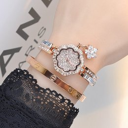 Wholesale Women Watches Lady Bangle - Luxury Women Watches! WomenDiamond Bracelet Watch Female Rose Gold Silver Dress Watch Lady Rhinestone Bangle Wristwatches