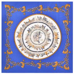 2019 carré de soie à cheval modèle de cheval foulard femmes fashoin bandana foulard foulard de luxe marque de soie foulards carré foulard 60 * 60cm foulards promotion carré de soie à cheval