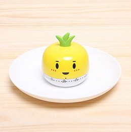 Wholesale Cartoon Vegetable - Cartoon vegetables shaped kitchen timer 55 minute cooking mechanical tool home decoration kitchen decoration women nice gift free ship