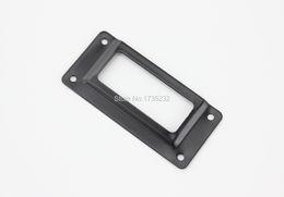 Wholesale Label Frame - Black Iron Metal Label Frame File Name Card Holder Drawer Box Case 62x29mm Tags Card holder