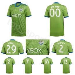 e9cfdfaa3 2018 2019 MLS Seattle Sounders Jersey Men Soccer 2 DEMPSEY 13 MORRIS 29  TORRES 6 ALONSO 17 BRUIN Football Shirt Kit Team Green