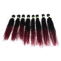 Wholesale Jerry Wave 14 Inch - New Arrival 8pcs lot unprocessed kinky curly Brazilian hair weave short ombre Bug Jerry Curly hair weft 8-14inch hair extension