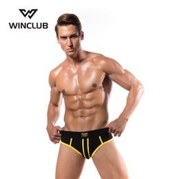 2019 boxeadores g cuerdas 4 pc / lot Hombres Boxeadores Sexy Men Underwear Gay Underpants Pene G-Strings Jockstrap Sexo Ropa Interior de Algodón boxeadores g cuerdas baratos