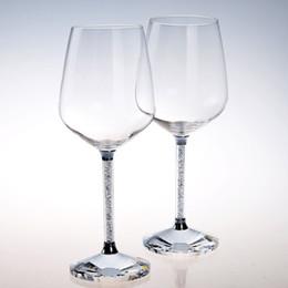 2 pc per set grazia deliziare il nuovo design di lusso di cristallo vino rosso calice di vetro regali di nozze per la nuova coppia da bicchieri di cristallo di cognac fornitori