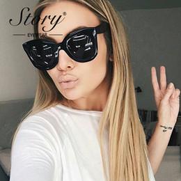 GESCHICHTE Original Brand Frauen Sonnenbrille Weiblichen Cat Eye Sonnenbrille Acetat Retro Sonnenbrille Elegante Oversize Brillen Oculos von Fabrikanten