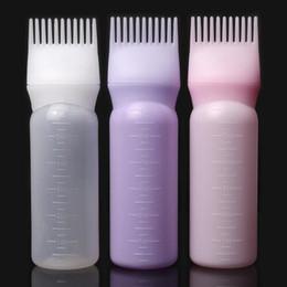 Applicateur de bouteille de remplissage de teinture pour cheveux en plastique 120ml avec une brosse graduée, un kit de distribution de coloration des cheveux de salon et des outils de coiffage ? partir de fabricateur
