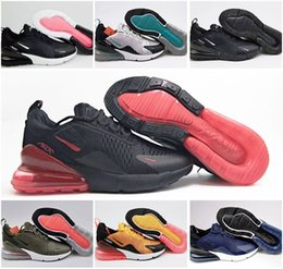 Wholesale Size 45 Mens Shoes - Wholesale high quality Mens Air Flair Triple Black 270 AH8050 Trainer Sports Running Shoes Womens air sole 270 Sneakers Size 36-45