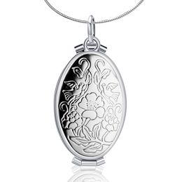 Argentina Vintage Photo Locket colgante, collar de plata de ley 925 joyería fina moda para mujeres / hombres partido regalo de cumpleaños Suministro