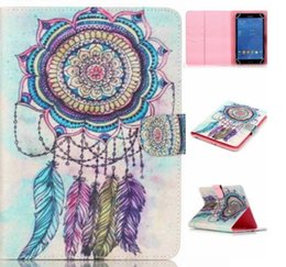 Wholesale Wifi Tablet Ipad - Bear Dreamcatcher Owl Dandelion Universal 7 inch 8inch Tablet Case Wallet Flip Stand Protective Cover for Samsung Apple Asus Lenovo Tablet P