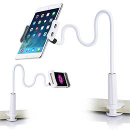 Wholesale rotating tablet stand - 360 Degree Lazy Flexible Tablet Phone Holder Desktop Mount Bracket Stand Rotating For iPad Samsung Tab Within 4-11.6""