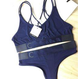 Wholesale Bikinis For Women Brand - Brand designer sport Tracksuit women Summer Sleeveless Suits for Women 2 Piece set Women short swimwear suit Vest + Bikini underwear suits