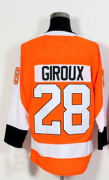 Wholesale Hockey Discount - Discount Cheap 2018 NEW 17 SIMMONDS 53 GOSTISBEHEPE 28 GIROUX Hockey Jerseys shirts TOPS,personality MENS Sports Training Hockey Wear TOPS