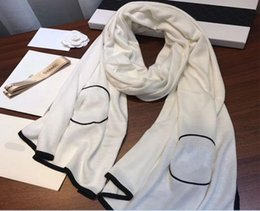 Wholesale Wool Long Scarf - Classic cashmere scarf fashionable lady shawl pure color warm long towel brand high quality knitted wool scarf.