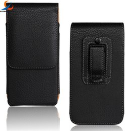 Wholesale Cell Phone Case Belt Clip - Universal Flip Vertical PU Leather Holster Pouch Belt clips Case For Iphone 7 8 Plus For Samsung Smart Cell Phone S9
