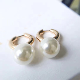 Wholesale Hook Brass - 2018 Elegant hook earring with pearl ball women earring brand name and box mother gift girl PS6727