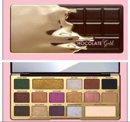 Wholesale Chip Gold - 2018 Newest Makeup 16 color White and Gold Chocolate Bar Chip palette 16 Color Eye Shadow Limited Edition Matte eyeshadow Palette DHL free