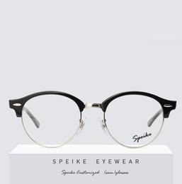 SPEIKE Occhiali da vista personalizzati Occhiali da vista New Fashion round Semi-Rimless R 4246v Per uomo e donna possono essere occhiali miopia occhiali da lettura da