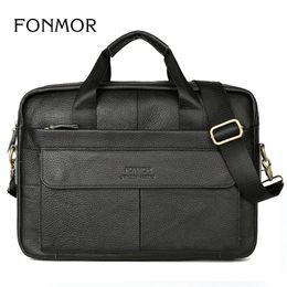 Wholesale Genuine Leather Bag For Mens - Wholesale-Brand Men Briefcase Genuine Leather Bags Handbags Office Bags for Mens Shoulder Bag Men Leather Laptop Bag Briefcases