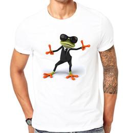 Felice rana online-2018 vestiti estivi t-shirt uomo 3d stampa rana felice animale cartoon t-shirt tee top può essere personalizzato fresco estate a maniche corte