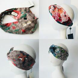 Flores de seda para headbands on-line-Hot Designer Headband Cabeça Cachecol para Mulheres de Luxo Da Marca 100% de Seda Elástica Faixas de Cabelo Meninas Retro Floral Pássaro Flor Turbante Headwraps presentes
