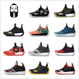 Wholesale Elastic Rubber Ball - hot 2018 Arrival vapormax James Harden 2 Vol.2 Men's Basketball Shoes Wolf Grey Sports Basket Ball Sneakers Training Boost Size 7-12
