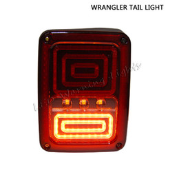 Wholesale led jeep tail lights - free shipping 10pairs 6in led tail light for offroad Jeep Wranger JK SKU 07-15 multi-functions brake signal turn lamp amber red white lamp