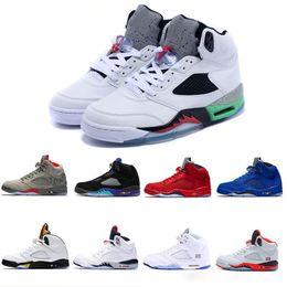 save off de1c2 b9327 Air Jordan Retro 5 5s Nike AJ5 5 5s Internationaler Flug Space Jam White Cement  Gold für Mann Basketballschuhe, Männer Sportschuh Klassische 5 V ...