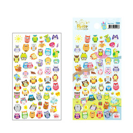 Wholesale free scrapbooking stickers - wholesale 50pcs lot Cute Owl Girrafe Scrapbooking Stickers Paper Craft Tags Mobile Diary Love Letters Decor Petlt free shipping