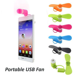 Wholesale Fans Notes - 3 in 1 Portable Mini Micro USB Fan Mobile Phone Gadget Cooler For iP X 7 8 Samsung S9 Note 8 Any Smartphone