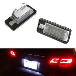 Lampe plaque d'immatriculation en Ligne-2x 18 LED Licence Lampe D'éclairage À Plaque Pour Audi A3 S3 A4 S4 B6 A6 S6 A8 S8 Q7
