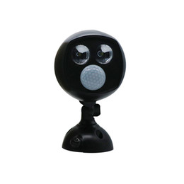 Аккумуляторная лампа онлайн-Edison2011 датчик движения 2 светодиодный прожектор Открытый сад уличного освещения 3 Вт батарейках безопасности точечные светильники