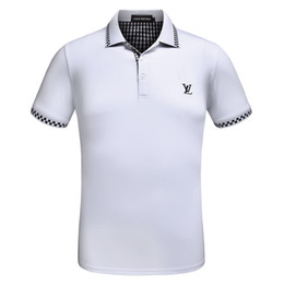 Wholesale Men High Collar T Shirt - VETEMENT 2018 High street Italy designer polo shirt Fashion Luxury Brand medusa t shirts mens Casual Cotton polos with embroidery applique