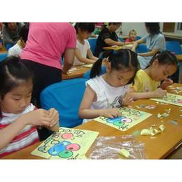 niños de pintura de arena Rebajas 1 Pack Niños Niños Juguetes de Dibujo Pintura en la Arena Cuadros Niño DIY Artesanía Educación Patrón de Juguete Random Party Favor