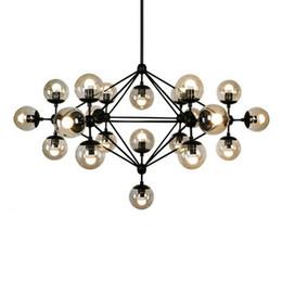Wholesale Dna Pendant Light - 5,10,15 21 head bulbs DNA buble glass ball pendant light Modo magic bean pendant light