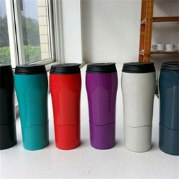 Wholesale Sealed Glass Bottles - Water Bottles Quality Goods Do Not Fall Mug Portable Heat Insulation Seal Up Vehicle Vacuum Cup Business Style 20ys V