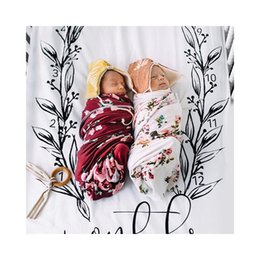 Wholesale Piece Bedding - Ins Hot Baby Two pieces on the bed set pillow case bed sheet Photography Blanket Baby Number Printed Reactive dyeing Infant Props BHB39