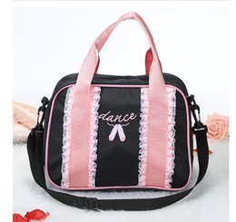 ballet bags UK - Wholesale Pink Clutch Bags Fashion Ballet Dancing  Crossbody Women Lace Bags For 0d27a7fb1097f